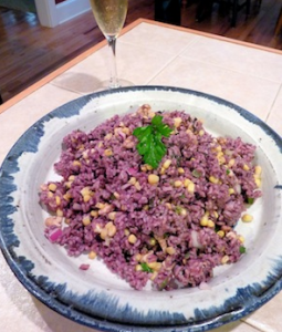 Mardi Gras Rice and Corn Salad